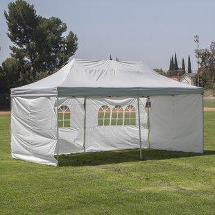 20 Ft. W x 10 Ft. D Steel Pop-Up Party Tent by Belleze
