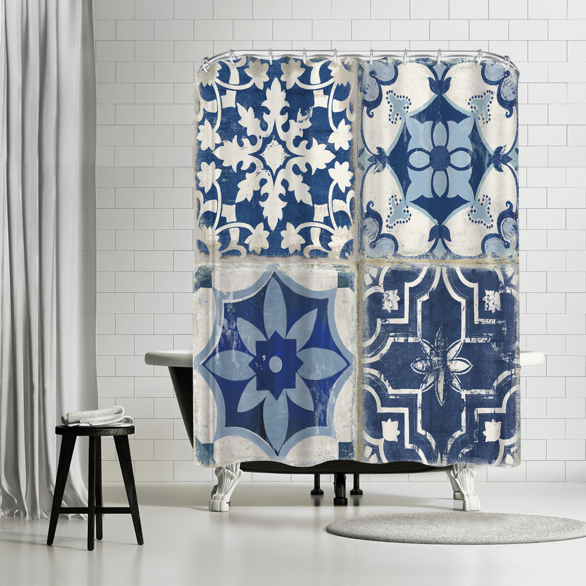 East Urban Home Pi Creative Art Mosaic Tile I Single Shower Curtain Wayfair