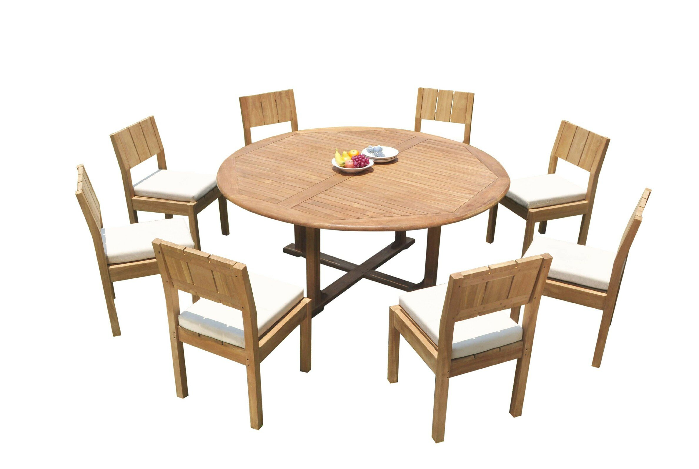 Rosecliff Heights Juanita 9 Piece Teak Dining Set Wayfair