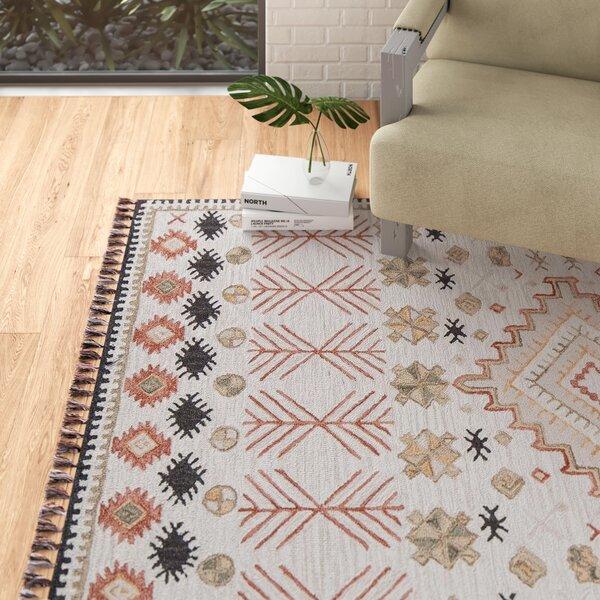 Agna Southwestern Handmade Hooked Wool Pink Beige Area Rug Reviews Allmodern
