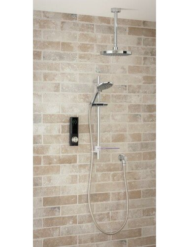 Home Digital Shower with Dual Shower Head Triton Showers Black