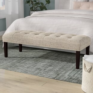Latitude Run Myla Upholstered Tufted Bench