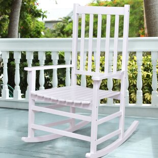 Highland Dunes Gaetane Solid Wood Rocking Chair