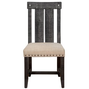 Hemlock Solid Wood Dining Chair Millwood Pines