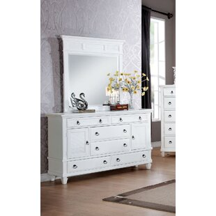 Red Barrel Studio Clearwater 6 Drawer Dresser with Mirror