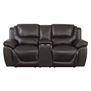 Where buy  Rish Leather Reclining Loveseat by Latitude Run Reviews (2019) & Buyer's Guide