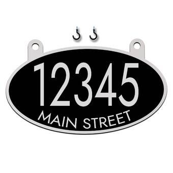 Montague Metal Products Vanderbilt 1 Line Hanging Address Plaque Reviews Wayfair Ca