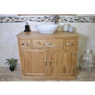 Miriam Solid Oak 1000mm Free-Standing Vanity Unit By Belfry Bathroom