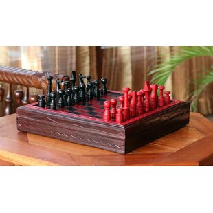 Ronnie Wood and Leather Chess Set by Bloomsbury Market