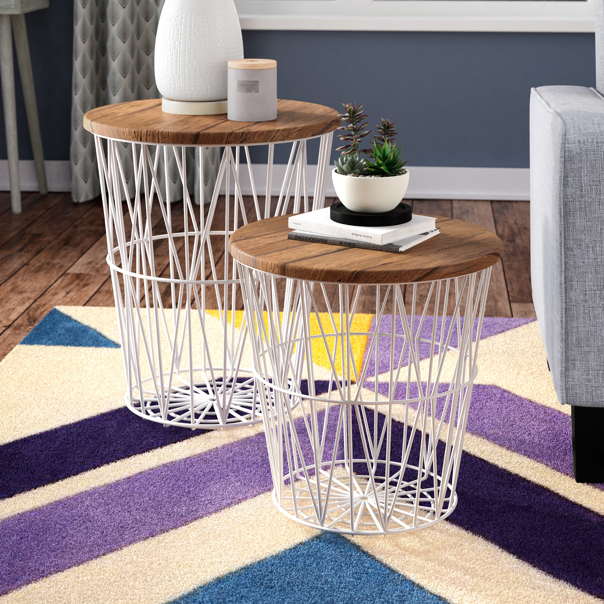 Incredible Mcgonigal 2 Piece Nesting Tables Squirreltailoven Fun Painted Chair Ideas Images Squirreltailovenorg