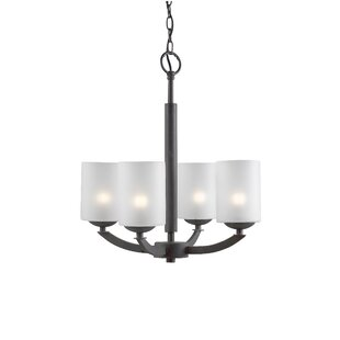 Ebern Designs Heavner 4-Light Shaded Chan..