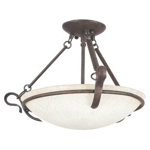 Westover 3-Light Semi-Flush Mo..