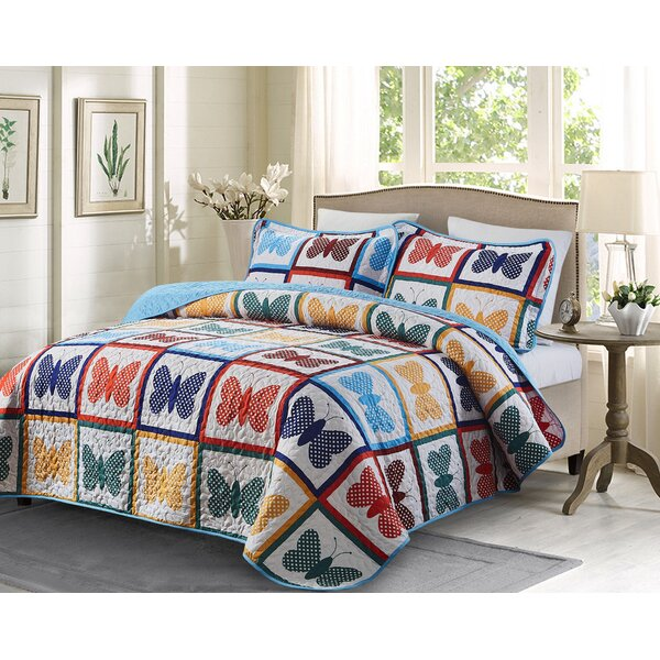 4bf5e93cded2 Butterfly Quilt King Size | Wayfair