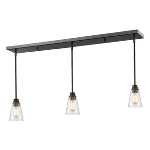 Read Reviews Clayton 3-Light Glass Kitchen Island Pendant By Laurel Foundry Modern Farmhouse