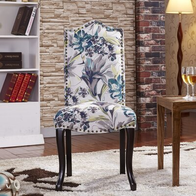 Nottingham Parsons Chair Corzano Designs Upholstery Color: Tropical Floral