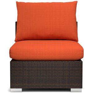 Ellie Outdoor Rattan Armless Chair with Cushions