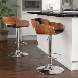 Mario Adjustable Height Swivel Bar Stool Corrigan Studio