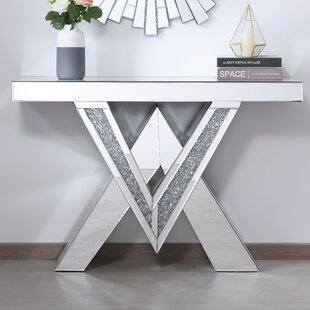 Aayush Mirrored Console Table