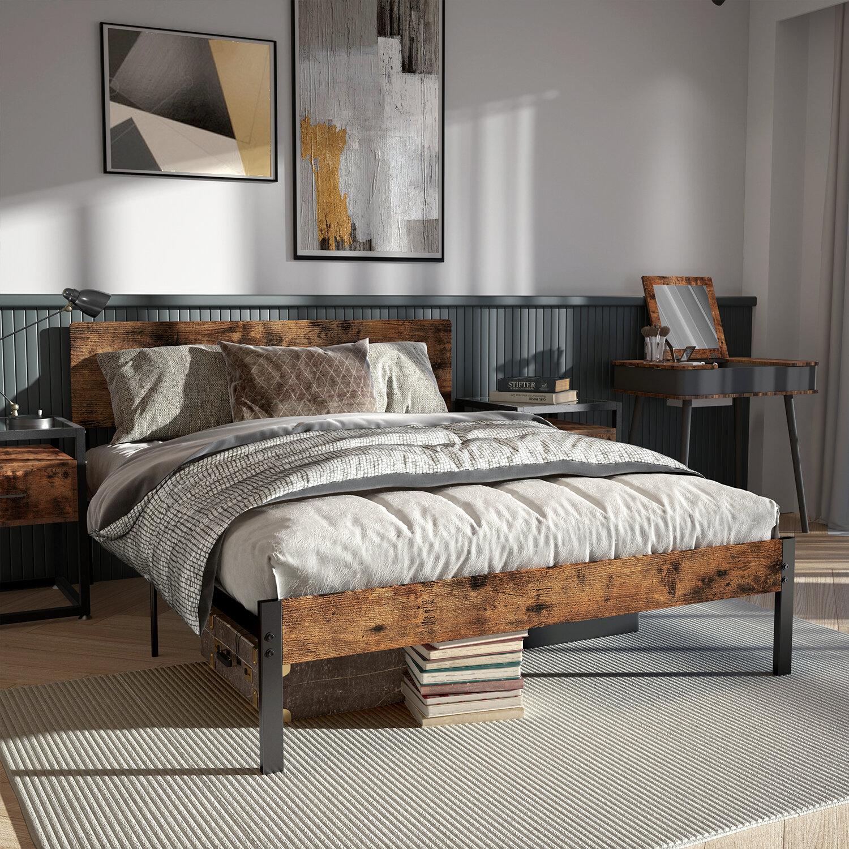Likimio 39 37 Steel Bed Frame Reviews Wayfair