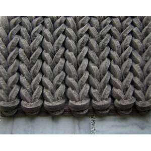 Braided Gray Area Rug