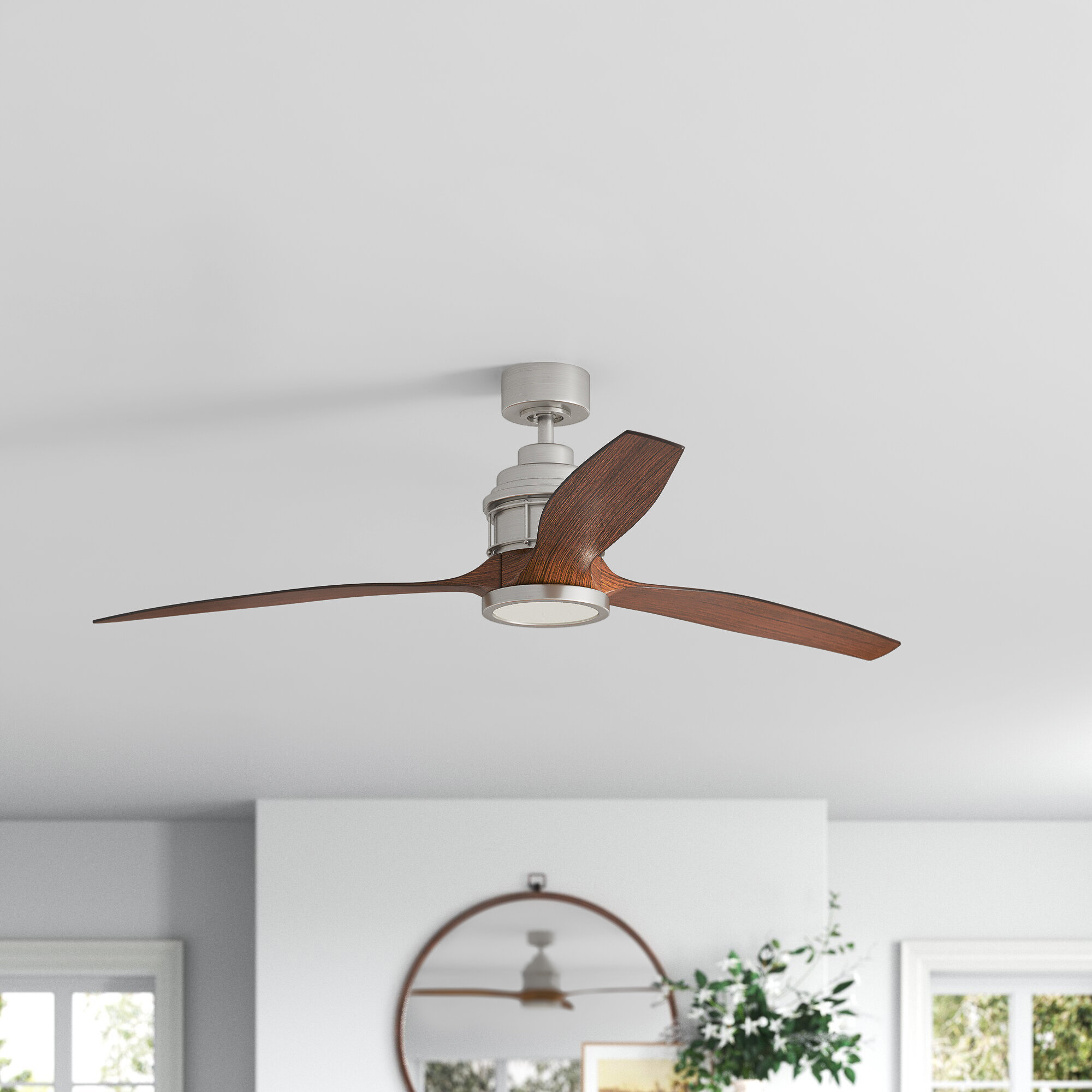Joss Main 60 Harmoneyq 3 Blade Led Propeller Ceiling Fan With Remote Control And Light Kit Included Reviews Wayfair