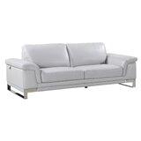 Aiert Genuine Leather 86 Pillow top Arm Sofa by Orren Ellis