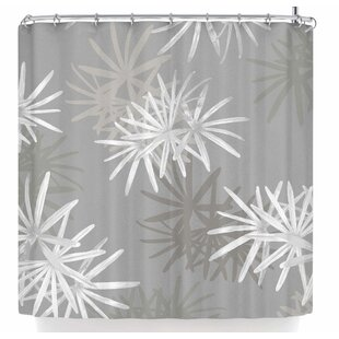 East Urban Home Julia Grifol White Paradise Flowers Shower Curtain