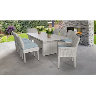 Coast 9 Piece Dining Set with Cushions by TK Classics