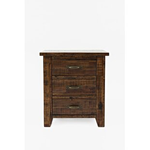 Abigayle Transitional 3 Drawer Nightstand by Gracie Oaks