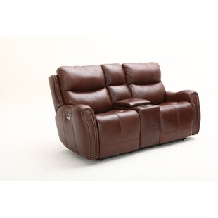 Ellington Leather Reclining Loveseat