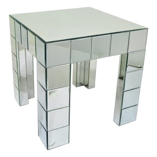 Leverett Mirrored End Table