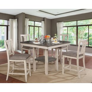 Truman 5 Piece Counter Height Dining Set by One Allium Way