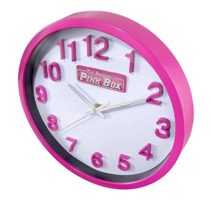 The Original Pink Box Pink Wall Clock & Reviews   Wayfair.ca