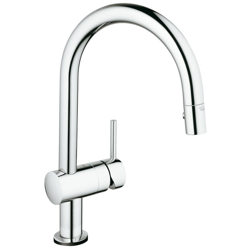 Grohe Minta Pull Down Touch Single Handle Kitchen Faucet With Silkmove Reviews Wayfair