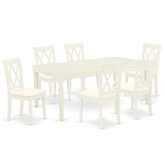 Winston Porter Terah 7 Piece Extendable Solid Wood Dining