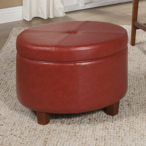 Salvatore Large Round Storage Ottoman : leather stool storage - islam-shia.org