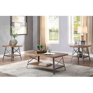 Addyson Living Room 3 Piece Coffee Table Set