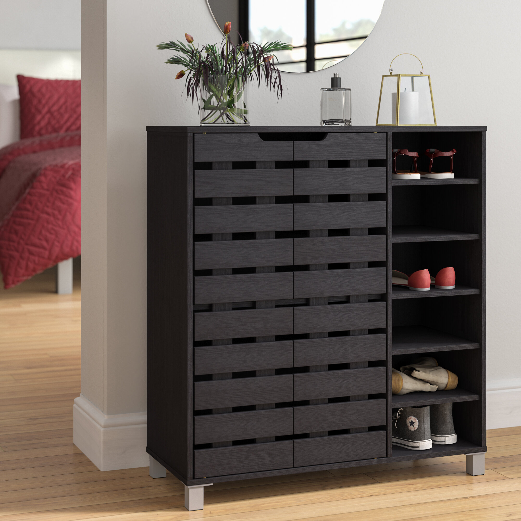 Zipcode Design 24 Pair Shoe Storage Cabinet