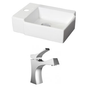 Order Ceramic 17 Wall Mount Bathroom Sink with Faucet By American Imaginations