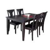 Haan Modern 5 Piece Solid Wood Dining Set by Red Barrel Studio®