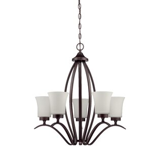 Grampian 5-Light Shaded Chandelier by Red Barrel Studio