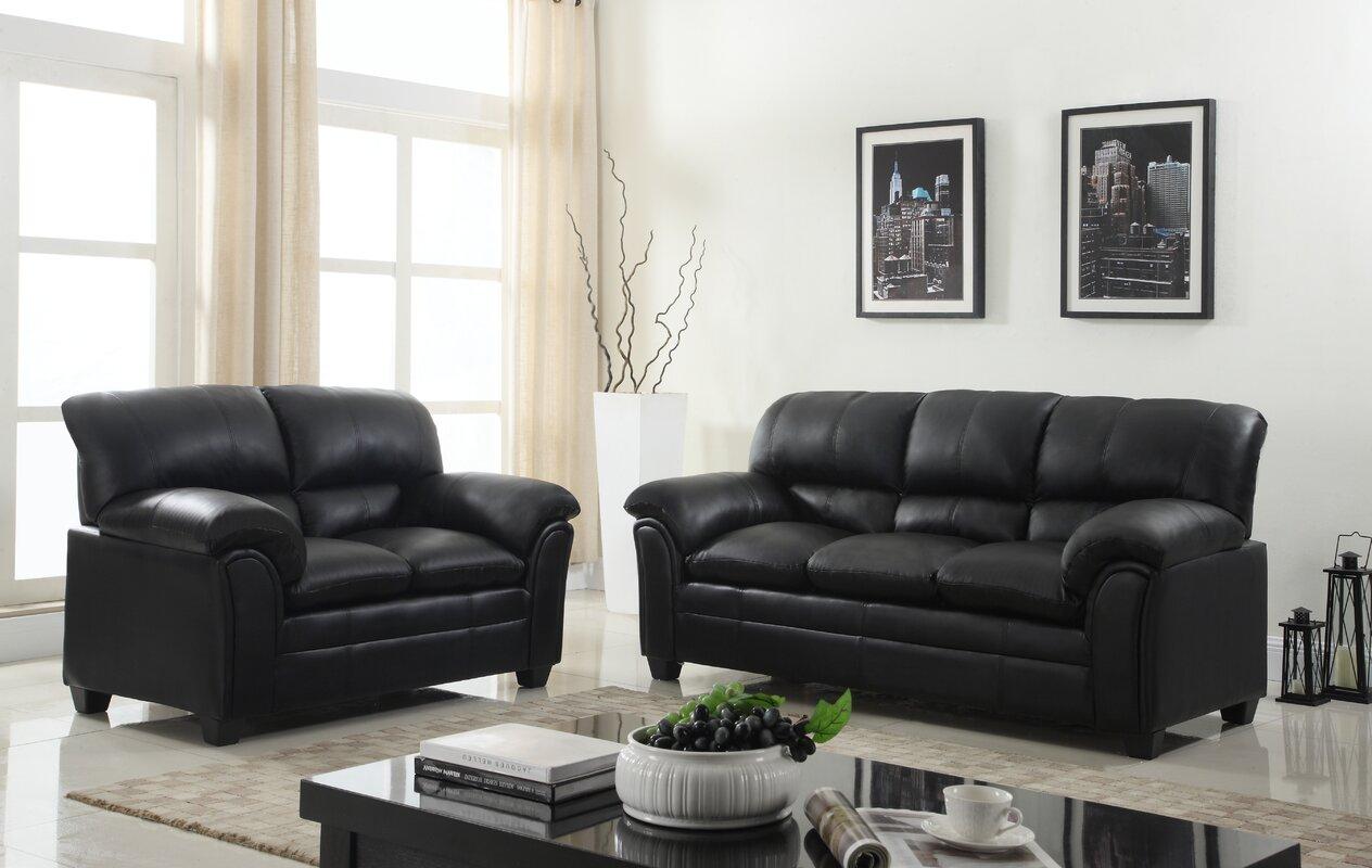 Mikaela 2 Piece Living Room Set