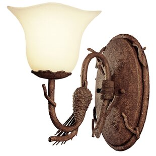 Ponderosa 1-Light Bath Sconce by Kalco