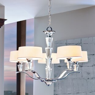 Rosdorf Park Brookefields 5-Light Shaded Chandelier