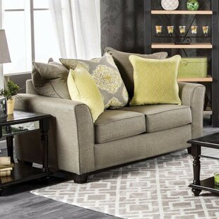 Eddy Loveseat with Loose Back Pillows by Darby Home Co