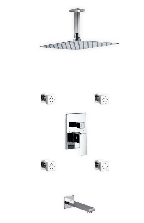 Rebrilliant Cahoon Complete Shower System With Rough In Valve Wayfair
