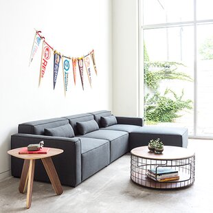 Mix Modular Sectional with Ottoman by Gus* Modern