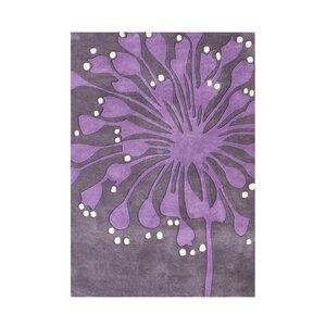 Hand-Tufted Purple Area Rug