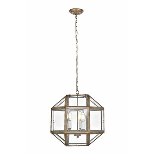 Ivy Bronx Burkeville 3-Light Geometric Chandelier