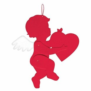 Valentine's Day Jointed Felt Cupid (Set of 4) by Amscan